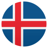 Flag: Iceland on JoyPixels 4.5