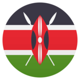 Flag: Kenya on JoyPixels 4.5