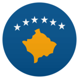 Flag: Kosovo on JoyPixels 4.5