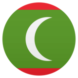 Flag: Maldives on JoyPixels 4.5