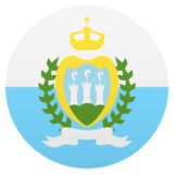 Flag: San Marino on JoyPixels 4.5