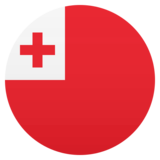 Flag: Tonga on JoyPixels 4.5