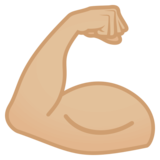 Flexed Biceps: Medium-Light Skin Tone on JoyPixels 4.5