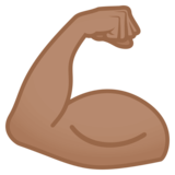 Flexed Biceps: Medium Skin Tone on JoyPixels 4.5
