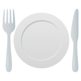 Fork and Knife with Plate on JoyPixels 4.5