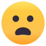 Frowning Face with Open Mouth on JoyPixels 4.5