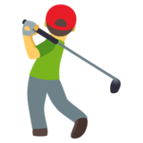 Person Golfing on JoyPixels 4.5
