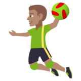 Person Playing Handball: Medium Skin Tone on JoyPixels 4.5