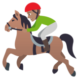 Horse Racing: Medium Skin Tone on JoyPixels 4.5