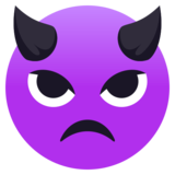 Angry Face With Horns on JoyPixels 4.5