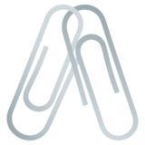 Linked Paperclips on JoyPixels 4.5