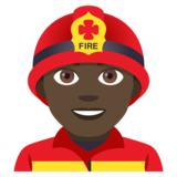 Man Firefighter: Dark Skin Tone on JoyPixels 4.5