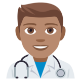 Man Health Worker: Medium Skin Tone on JoyPixels 4.5