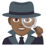 Man Detective: Medium-Dark Skin Tone on JoyPixels 4.5