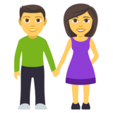 Woman and Man Holding Hands on JoyPixels 4.5