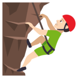 Man Climbing: Light Skin Tone on JoyPixels 4.5