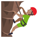 Man Climbing: Medium Skin Tone on JoyPixels 4.5