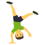 Man Cartwheeling on JoyPixels 4.5