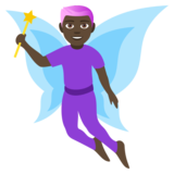 Man Fairy: Dark Skin Tone on JoyPixels 4.5