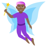 Man Fairy: Medium-Dark Skin Tone on JoyPixels 4.5