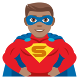 Man Superhero: Medium Skin Tone on JoyPixels 4.5