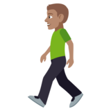 Man Walking: Medium Skin Tone on JoyPixels 4.5