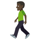 Man Walking: Dark Skin Tone on JoyPixels 4.5