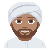 Man Wearing Turban: Medium Skin Tone on JoyPixels 4.5
