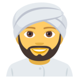 Person Wearing Turban on JoyPixels 4.5