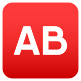 AB Button (Blood Type) on JoyPixels 4.5