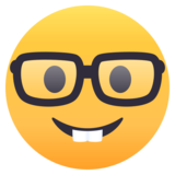 Nerd Face on EmojiOne 4.5