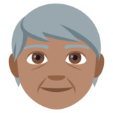 Older Person: Medium Skin Tone on JoyPixels 4.5