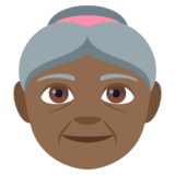 Old Woman: Medium-Dark Skin Tone on JoyPixels 4.5