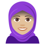 Woman with Headscarf: Medium-Light Skin Tone on JoyPixels 4.5