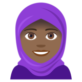 Woman With Headscarf: Medium-Dark Skin Tone on JoyPixels 4.5