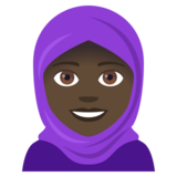 Woman With Headscarf: Dark Skin Tone on JoyPixels 4.5