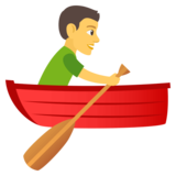 Person Rowing Boat on JoyPixels 4.5
