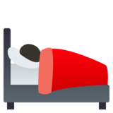 Person in Bed: Dark Skin Tone on JoyPixels 4.5