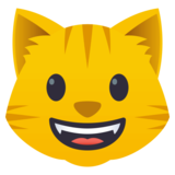 Grinning Cat Face on JoyPixels 4.5