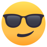 Smiling Face With Sunglasses on JoyPixels 4.5