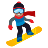 Snowboarder: Medium Skin Tone on JoyPixels 4.5