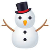 Snowman Without Snow on JoyPixels 4.5
