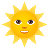 Sun with Face on JoyPixels 4.5