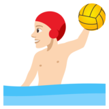 Person Playing Water Polo: Light Skin Tone on JoyPixels 4.5