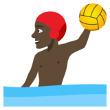 Person Playing Water Polo: Dark Skin Tone on JoyPixels 4.5