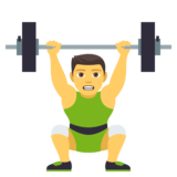 Person Lifting Weights on JoyPixels 4.5