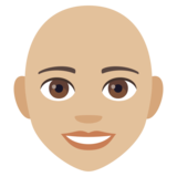 Woman: Medium-Light Skin Tone, Bald on EmojiOne 4.5