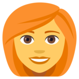 Woman: Red Hair on JoyPixels 4.5