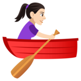 Woman Rowing Boat: Light Skin Tone on JoyPixels 4.5