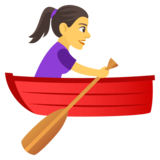 Woman Rowing Boat on JoyPixels 4.5